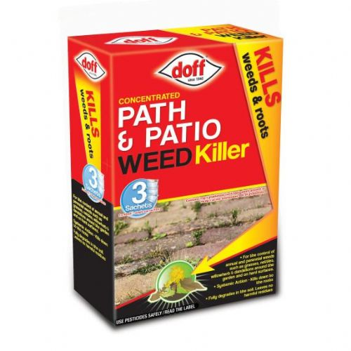 Doff Advanced Concentrated Path & Patio  Weedkiller 3 sachets x 80ml